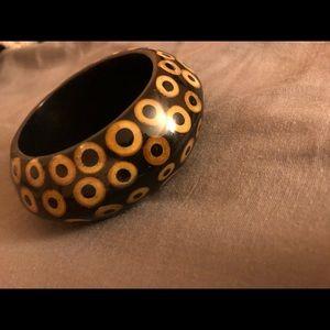 Kenneth Jay Lane Wooden Bangle/ Bracelet